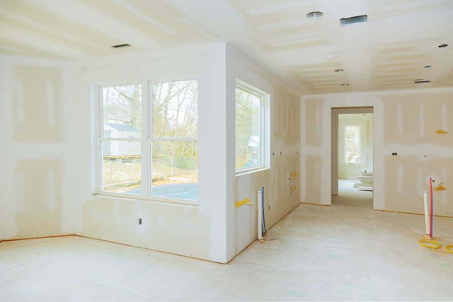 white under construction empty room